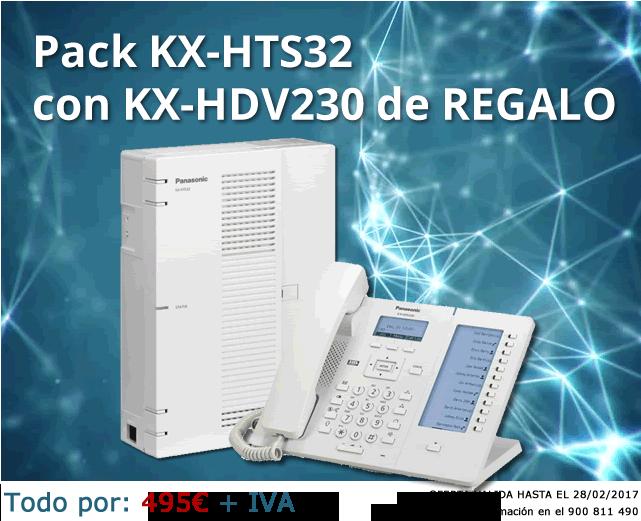 Oferta PACK Centralita Telefónica KX-HTS32 y Teléfono KX-HDV230 de Regalo.